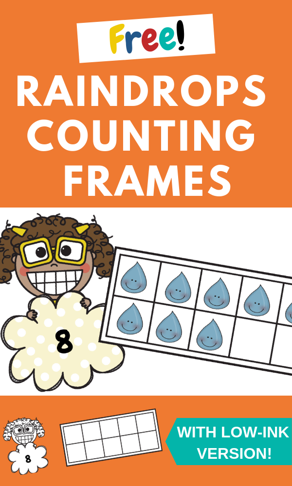 Raindrops Counting Frames | Free Printable Worksheets For Kids | (*The links below are affiliate links. Thank you for supporting this blog!)