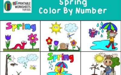 Spring Color By Number Pack