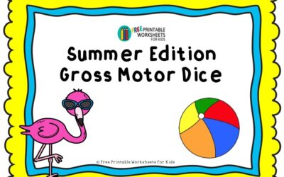 Summer Edition Gross Motor Dice