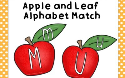 Apple and Leaf Alphabet Match
