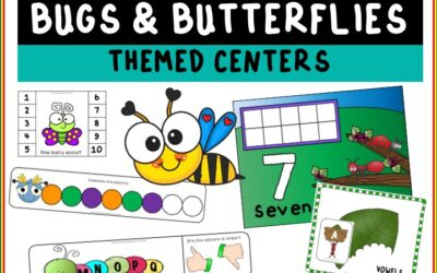 Bugs and Butterflies Themed Literacy and Math Centers