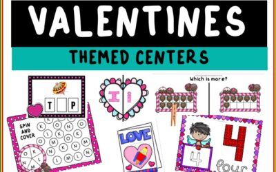 Valentines Literacy and Math Themed Centers