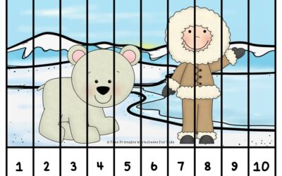 Winter Freeze Number Puzzle Strips