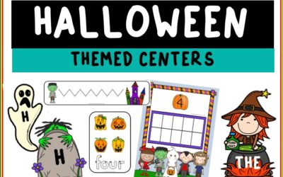 Halloween Themed Literacy and Math Centers