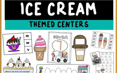 Ice Cream Themed Literacy and Math Centers